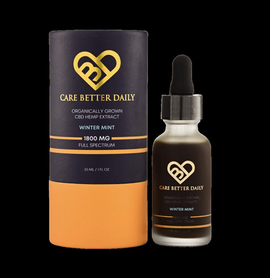 Care Better Daily 1800 CBD Oil Extract – Full Spectrum – 30 ml / 1 oz Tincture